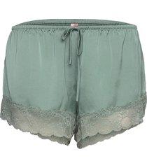 short satin meili shorts grön hunkemöller