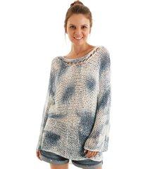 blusa aha tricot tie dye azul