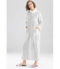 natori sherpa zip lounger sleep/lounge/bath wrap/robe, women's, beige, size m natori