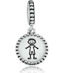 berloque menino em prata 950