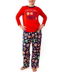 matching women's baking team pajama set, online only