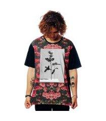 camiseta floral elephunk estampada violator florida