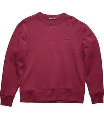face sweatshirt, dark pink