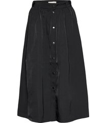 evalia midi skirt knälång kjol svart soft rebels