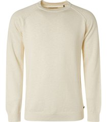 no excess pullover crewneck garment dyed with offwhite
