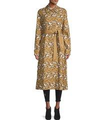 lawrence belted floral coat