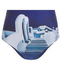 calcinha larga chromata - azul