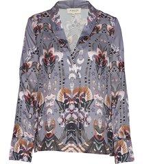daria blouse blus långärmad grå by malina