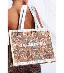 calzedonia beach bag eco woman green size tu