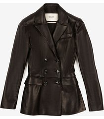 double breasted blazer black 40