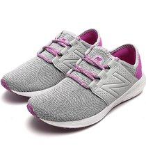 tenis running gris-violeta-blanco new balance gecrzag