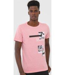 camiseta rock&soda estampada rosa