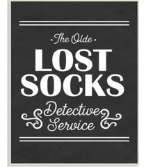 "stupell industries olde lost socks detective service wall plaque art, 12.5"" x 18.5"""