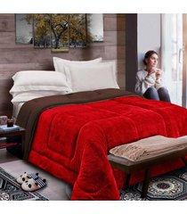 cobertor columbia casa dona casal vermelho - incolor - dafiti