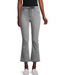 rta women's raw-hem cropped bootcut jeans - graphite - size 24 (0)