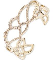 givenchy gold-tone crystal twist cuff bracelet