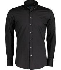 nils overhemd - body fit - zwart