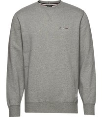 basic sweatshirt w embroidery sweat-shirt tröja grå lindbergh
