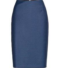 vineka knälång kjol blå boss