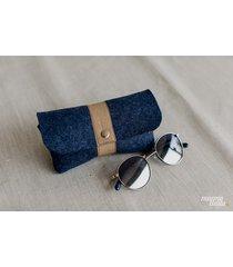 marmollada - etui filcowe na okulary indygo + b