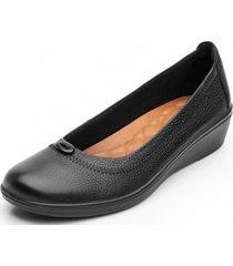 zapato mujer castaña negro flexi