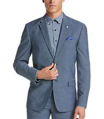 ben sherman blue sharkskin extreme slim fit suit