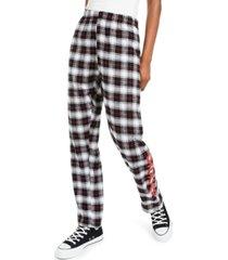 dickies flannel logo pants