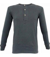merz b. schwanen button facing navy shirt 406