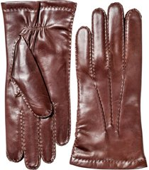 men's hestra leather gloves, size xl (10) - red