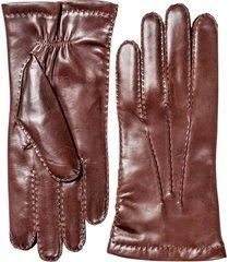 men's hestra leather gloves, size l/xl - red
