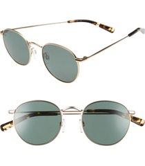 raen benson 51mm polarized sunglasses - gold/ brindle