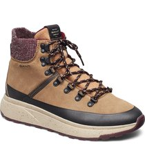 tomas mid lace boot snörade stövlar brun gant