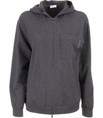 brunello cucinelli cotton sweatshirt and hoodie