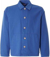 armor lux heritage fishermans jacket   ozero blue   72932-jn8