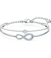 swarovski crystal infinity symbol double-row bangle bracelet