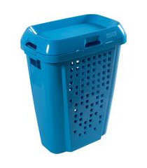 cesto de roupas astra rb7 45 litros com tampa blueberry