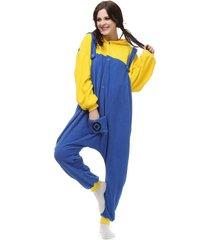 minion adult kigurumi pajamas jumpsuit sleepwear anime cosplay costume