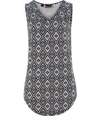 top in jersey fantasia con arricciature (nero) - bpc bonprix collection