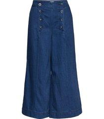 onlmagdalin hw wide h crop dnm jeans lång kjol blå only