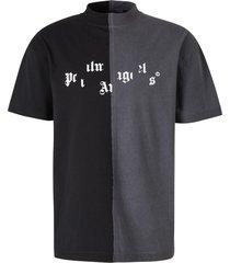 t-shirt met gebroken logo
