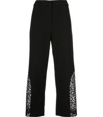 alexis novata sheer-panels trousers - black