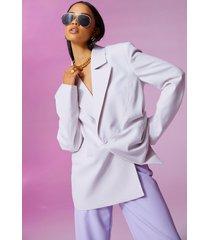 oversized colour block blazer, lilac