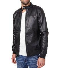 chaqueta g factory kazra moto jacket negro guess