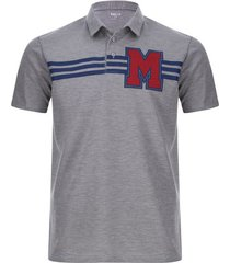 polo m color gris, talla m