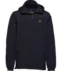 microfleece lined zip through jacket tunn jacka svart lyle & scott