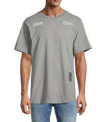 g-star raw men's c & s back multi graphic loose t-shirt - charcoal - size l