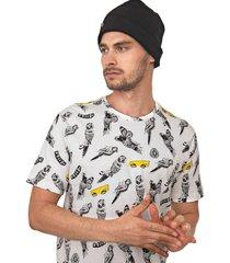 camiseta volcom bird toss off-white - off white - masculino - dafiti