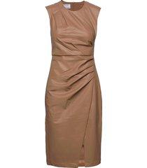 marie pleat dress knälång klänning beige designers, remix