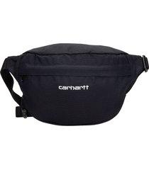 carhartt waist bag in black synthetic fibers