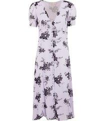 michael michael kors long floral print dress
